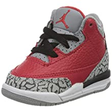 Nike Jungen Jordan 3 Retro Se (Td) Basketballschuh, Rot (Fire Red/Fire Red-cement Grey-black), 19.5 EU