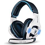 Sades SA903 7.1 USB-Gaming-Headset mit Surround-Sound / Stereoklang und integrierter Soundkarte