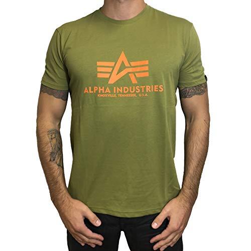 Preisvergleich Produktbild Alpha Industries Basic T-Shirt Grün / Orange XL