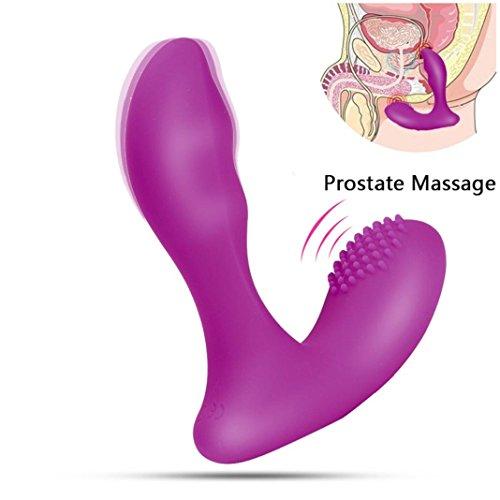 Mâle Massage de Vibration de la Prostate,Sisit Vibromasseur Masseur Prostate Mens Rechargeable 7 Vitesse Vibrant Mâle Jouet (Violet)