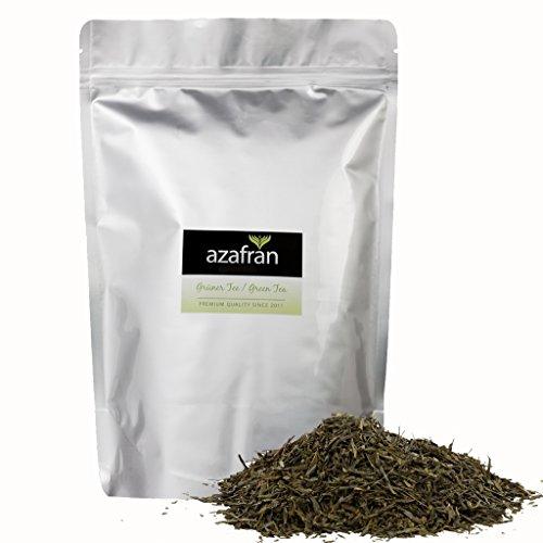 Grüner Tee - Japanischer BIO Sencha Uchiyama Grüntee - Original aus Japan (500g) von Azafran® - ca. 200 Tassen (Grüner Tee)