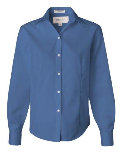 Pinpoint Oxford (Van Heusen Damen Hemd Pinpoint Oxford Bügelfrei 13V0144, Damen, V0144, blau (French Blue), Large)