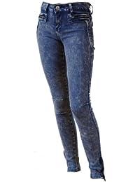 Jeans jegging femme bleu délavé slim du 32 au 40