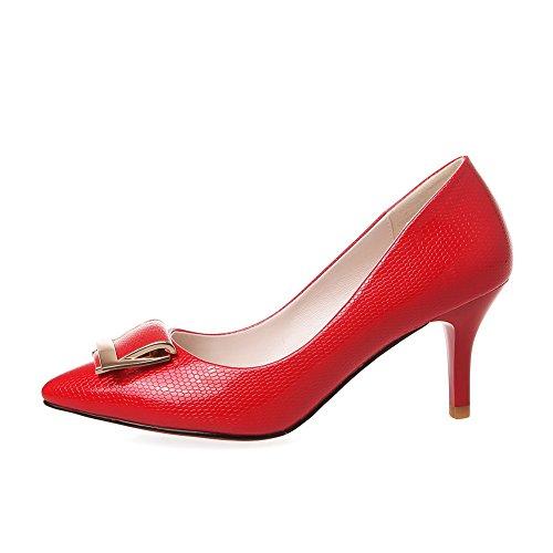 Desconocido, Rojo Zapatos De Tacón Alto De Mujer