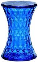 Kartell 8800SB Tabouret Stone (Bleu transparent)