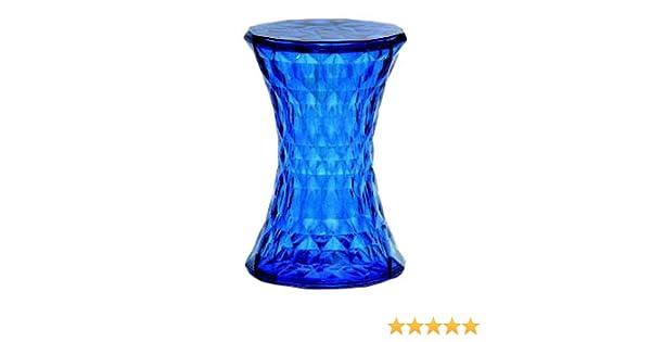 Kartell stone 8800sb sgabello colore: blu trasparente: amazon.it