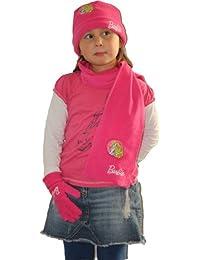 Barbie d'hiver pour enfant 3 pièces pour enfant, kinderschal-gants chauds, pour fille