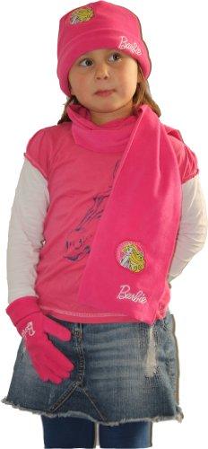 Barbie Coordinato Invernali Ragazza Rosa Rosa Taglia Unica
