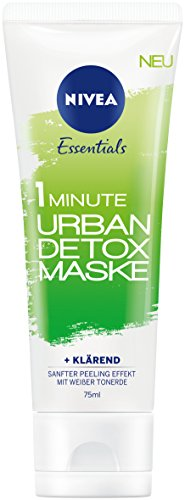 Nivea 3er Pack Reinigende Gesichtsmaske, 1 Minute Maske, 3 x 75 ml Tube, Urban Detox