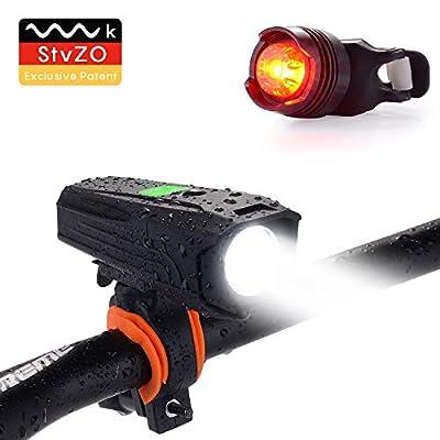 LED Fahrradlicht Set, LED Fahrradbeleuchtung Zugelassen USB IPX65 Wiederaufladbare Frontlicht und Rücklicht Set, 360 ° Drehung Fahrradlampe, 3 Licht-Modi, Fahrradlichter für Nachtfahrer, Radfahren