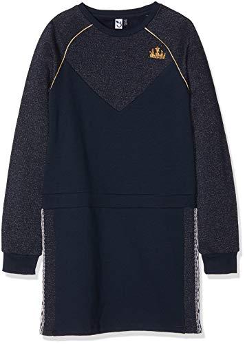 3 pommes Mädchen Kleid Dress 3M30024, Blau (Navy Blue 49), 7-8 Jahre (Herstellergröße: 7Y/8Y)