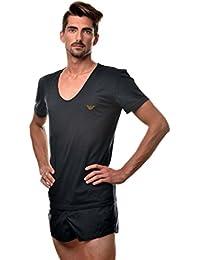 Emporio Armani tshirt noir col v - Couleur - Noir, Taille Maillot - S