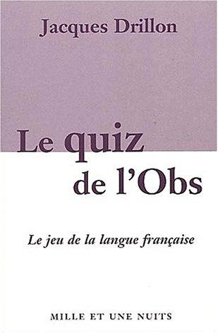 Le Quiz de l'Obs - Le Grand jeu de la langue française