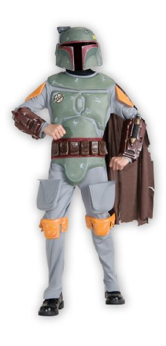 Deluxe Boba Fett Kinder Kostüm (Kostüme Deluxe Kinder Boba Fett)