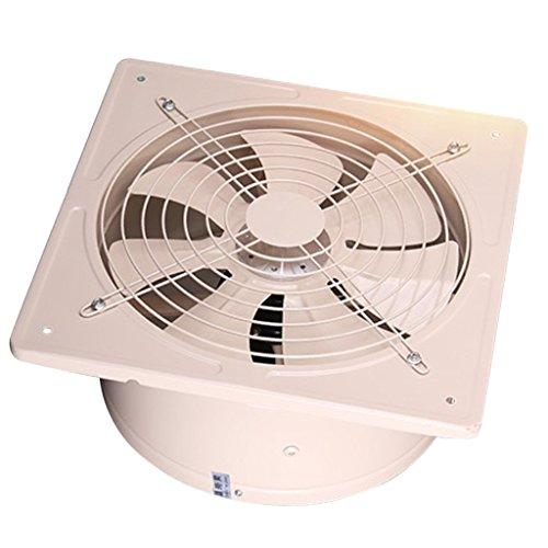 Baoblaze Ventilador de Escape de Acero Inoxidable de 200 mm Blaze Ventilador de Flujo de Aire Baño/Cocina/Garage/Oficina/Apartamento...
