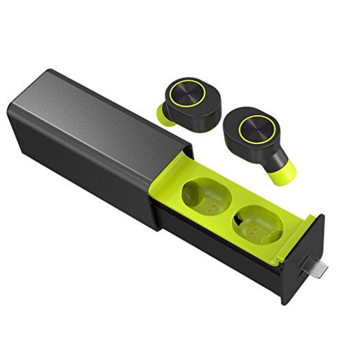 Gszfsm001 Mini-Bluetooth-Headset, kabellos, Stereo, mit Ladebox grün