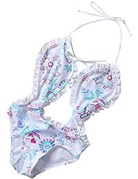OverDose Niñas bebés de una pieza floral bikini traje de baño traje de baño Traje de baño