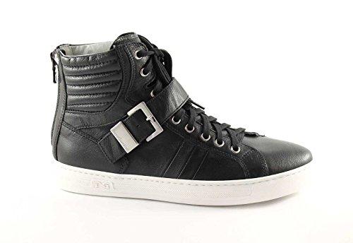 NERO GIARDINI 11570 nero scarpe donna mid sneakers zip tallone Nero