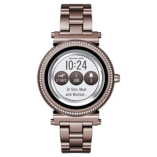 Michael Kors Damen Digital Smart Watch Armbanduhr mit Edelstahl Armband Sofie