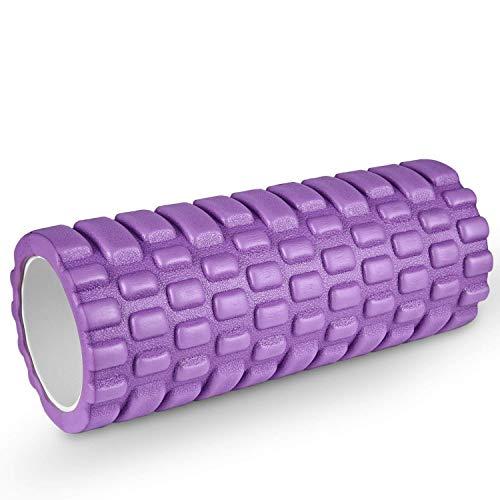 HiHiLL Foam Roller, Rullo di Schiuma, Profonda Tessuto Massaggio Muscolare, Terapia Trigger Point per Recupero Muscolare, Stretching, Yoga, Pilates, Fisioterapia, 34 x 14cm