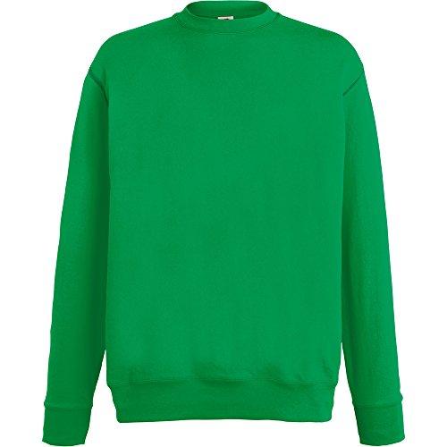 Fruit Of The Loom Mens Lightweight Set In Sweatshirt Kelly Green