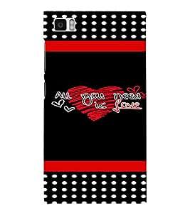 PrintVisa Love Quotes Design 3D Hard Polycarbonate Designer Back Case Cover for Xiaomi Redmi Mi3