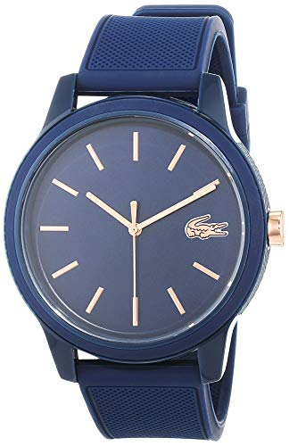 Lacoste Mens Analogue Classic Quartz Watch with Silicone Strap 2011011