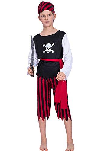Joyplay Kinder Pirat Totenkopf und gekreuzte Knochen Jungen Kostüm (Gekreuzte Knochen Kostüm)
