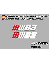 PEGATINAS STICKERS MOTO 93 MARQUEZ F70 MOTO GP AUFKLEBER DECALS AUTOCOLLANTS ADESIVI MOTO GP (ROJO BLANCO/RED WHITE)