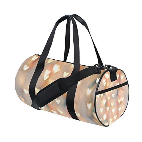 jstel Pastell Herz Sports Gym Tasche für Frauen und Herren Duffle Reisetasche