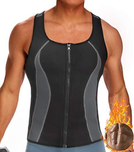 MISS MOLY Sauna Weste Herren Neopren Abnehmen Shirt Hot Thermo Shaper Tank Top 3X Sweat Figurformender Schwitzanzug für Gewichtsverlust Training -