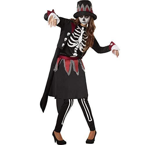 dressforfun 900510 - Damenkostüm gruselige Skull Lady,