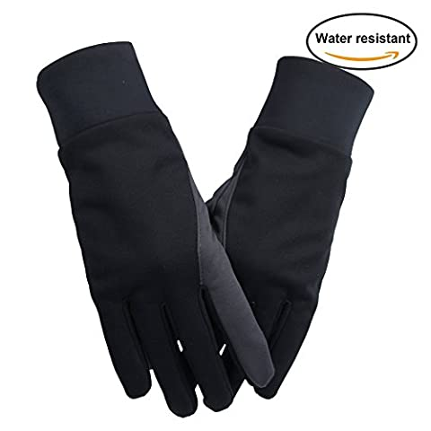Touchscreen Gloves, OZERO Phone Glove - Hand Warmers - Windproof and Water Resistant - Light Weight Thin - for Running, Golf, Cycling, Riding, Outdoor Sports in Autumn & Winter - for Women and Men - Black (Extra Large)