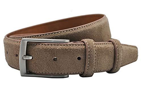Luxus Echtes Wildleder Thingsom-Belt-Gürtel-HAMN4111 Ledergürtel Für Männer Männlich Mit Vintage Nickel Gebürstet Dornschließe 90-130 Cm -