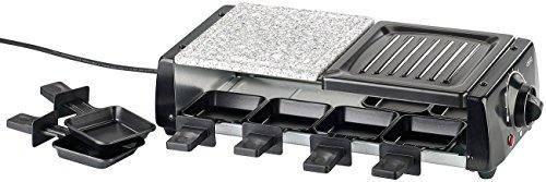 Rosenstein & Söhne Raclette Öfen: Raclette RCL-120 für 8, mit Grill und heißem Stein, 1.200 Watt - Kontrolllampe Ofen