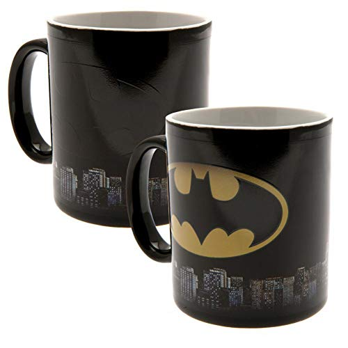 Dc comics gb eye ltd, batman logo, tazza magica che cambia de colore