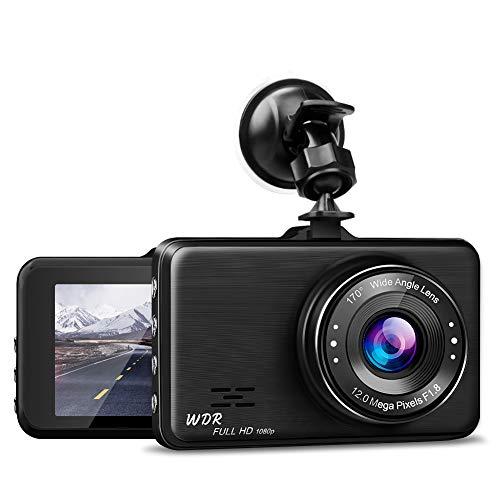 NWOUIIAY Full HD 1080P Autokamera Video Recorder Auto Dashcam Autorecorder mit 170° Weitwinkelobjektiv G-Sensor Loop-Aufnahme Bewegungserkennung, Parkmonitor WDR