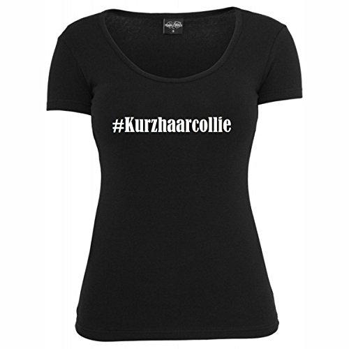 T-Shirt #Kurzhaarcollie Hashtag Raute für Damen Herren und Kinder ... in der Farbe Schwarz Schwarz