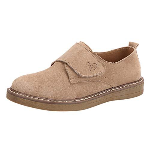WGLATT Damen Wildleder Stiefel Schlüpfen Wohnungen Turnschuhe Komfortabel Lässige Schuhe Wüstenstiefel Mokassins Halbschuhe Freizeit