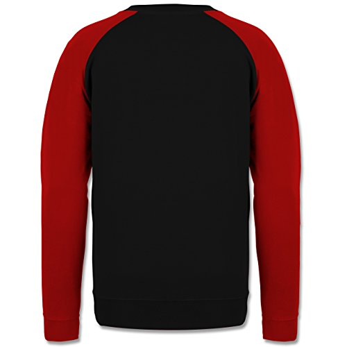 Statement Shirts - Change begins in your head - Herren Baseball Pullover Schwarz/Rot