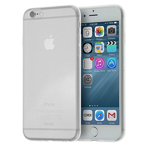"doupi UltraSlim AllClear TPU Case für Apple iPhone 6 iPhone 6s ( 4.7"" 4,7 Zoll ) Silikon FederLeicht Hülle Blau Gummi Bumper Cover Schutz Schale Siliconcase, blau Transparent"