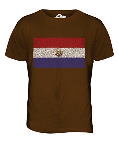 CandyMix Paraguay Kritzelte Flagge Herren T Shirt Braun
