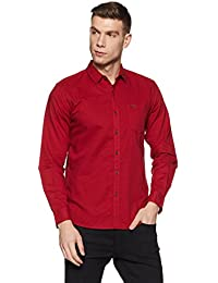 Wrangler Men's Solid Regular Fit Casual Shirt