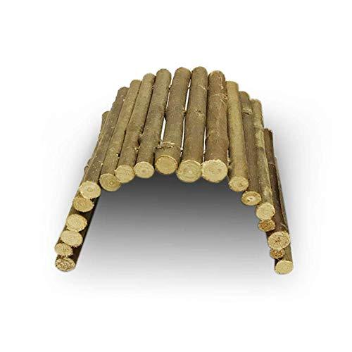 YaptheS Holz Reptil Leiter Zaun Spielzeug M Größe für Turtle Lizard Snake Aquarium Holz Biegsame Hideout Brücke Produkt für Haustiere
