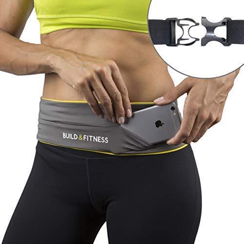 Laufgürtel, voll einstellbarer Verschluss, Fitness-Gürtel, Schlüsselclip. Geeignet für iPhone 7,8 plus,Samsung. Unisex, geeignet für Laufen, Radfahren, Walking, Jogging, Fitnessstudio, Reisen, draußen (Wireless Flip-kopfhörer)