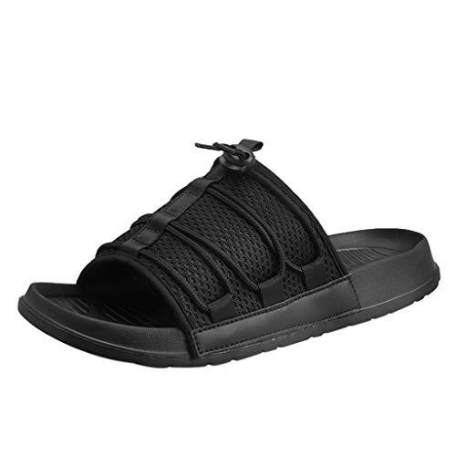 SANFASHION Sommer Herren Classic Erwachsene Pantoletten Wohnungen Atmungsaktive Sport Hausschuhe Beach Schuhe