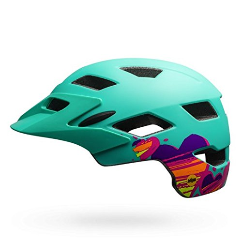 Bell Unisex Jugend SIDETRACK Youth MIPS Fahrradhelm, Matte Mint/Tang, Unisize