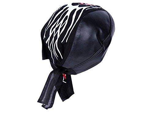 Bandana in finta pelle preformato con laccetti, rocker biker motociclista motorcycle pirata cap cappellino ZA-74