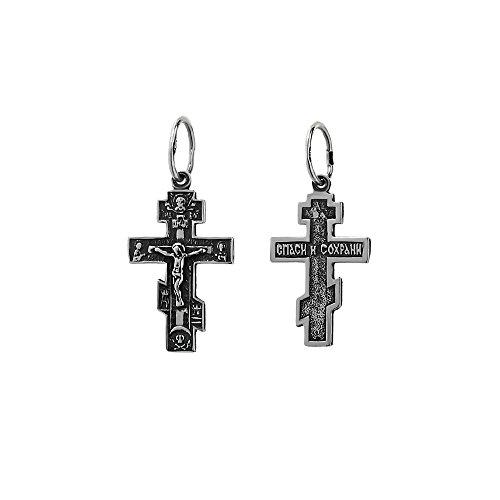 NKlaus 925er Sterlingsilber Kreuzfix Anhänger Orthodox Russisch 6259 Taufe