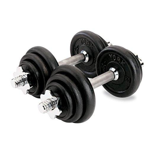 york-fitness-cast-iron-dumbbell-set-20kg
